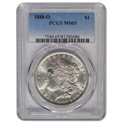 1888-O $1 Morgan Silver Dollar Coin PCGS MS65