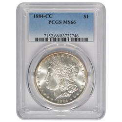 1884-CC $1 Morgan Silver Dollar Coin PCGS MS66