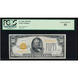 1928 $50 Gold Certificate PCGS 55