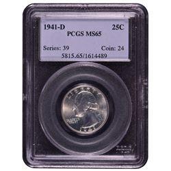 1941-D Washington Quarter PCGS MS65