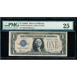 1928D $1 Silver Certificate PMG 25