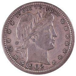 1902 Barber Quarter Coin