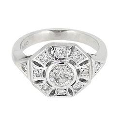 Platinum 0.91ctw Diamond Ring