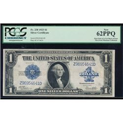1923 $1 Silver Certificate PCGS 62PPQ