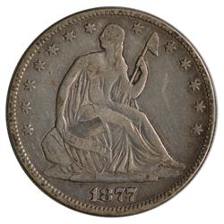 1877 Seated Liberty Half Dollar Coin