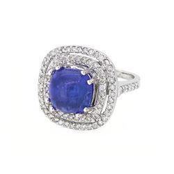 14KT White Gold 6.69ct Tanzanite and Diamond Ring