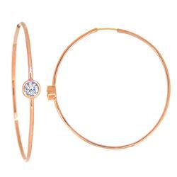 14KT Rose Gold 0.42ctw Diamond Hoop Earrings