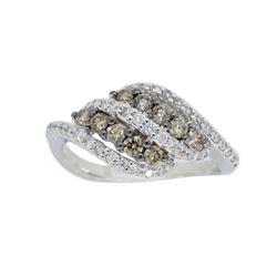 14KT White Gold 0.60ctw Diamond Ring