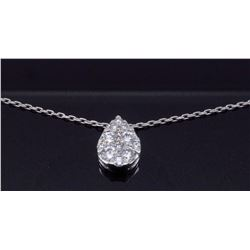 14KT White Gold 0.25ctw Diamond Pendant with Chain