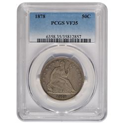 1878 Seated Liberty Half Dollar Coin PCGS VF35