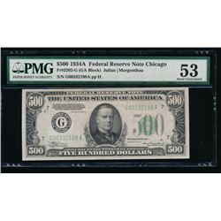 1934A $500 Chicago Federal Reserve Note PMG 53