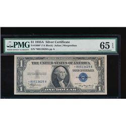 1935A $1 Silver Certificate Star Note PMG 65EPQ