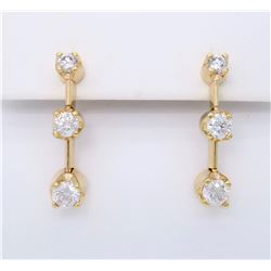 14KT Yellow Gold 0.85ctw Diamond Earrings