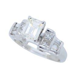 14K White Gold 1.07ctw Diamond Ring