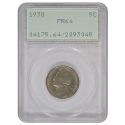 1938 Jefferson Nickel PCGS PR64