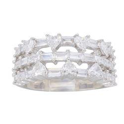 18KT White Gold 1.25ctw Diamond Ring