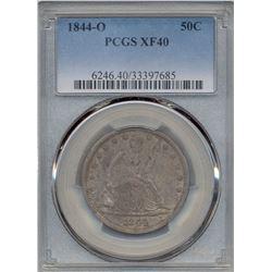 1844-O Liberty Seated Half Dollar Coin PCGS XF40