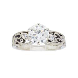 18KT Two Tone Gold 1.07ctw GIA Cert Diamond Ring
