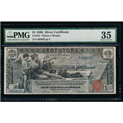 1896 $1 Silver Certificate PMG 35