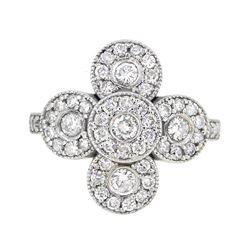 14KT White Gold 1.06ctw Diamond Ring