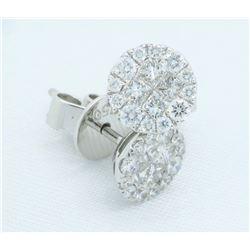 18KT White Gold 0.375ctw Diamond Earrings