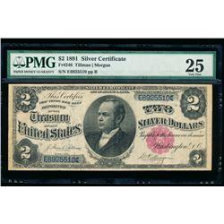 1891 $2 Silver Certificate PMG 25