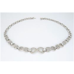 14KT White Gold 4.75ctw Diamond Necklace