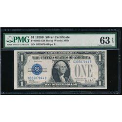 1928B $1 Silver Certificate PMG 63EPQ