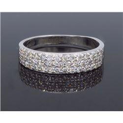 14KT White Gold 0.65ctw Diamond Ring