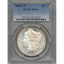 1880-CC $1 Morgan Silver Dollar Coin PCGS MS64
