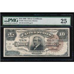 1886 $10 Silver Certificate PMG 25