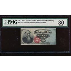 50 Cent Fourth Issue Fractional Note PMG 30