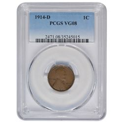 1914-D Lincoln Cent PCGS VG08