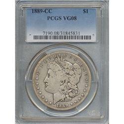 1889-CC $1 Morgan Silver Dollar Coin PCGS VG08