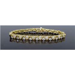 14KT Yellow Gold 6.16ctw Diamond Bracelet