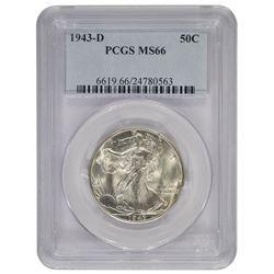 1943-D Walking Liberty Half Dollar Coin PCGS MS66
