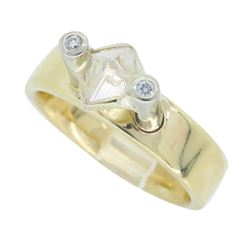 14KT Yellow Gold 0.92ct Diamond Ring