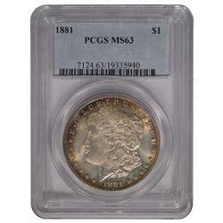 1881 $1 Morgan Silver Dollar Coin PCGS MS63