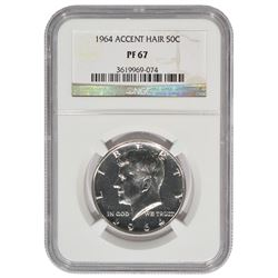 1964 Kennedy Half Dollar Accent Hair NGC PF67