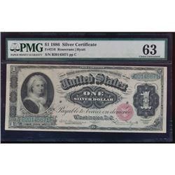 1886 $1 Martha Washington Silver Certificate PMG 63