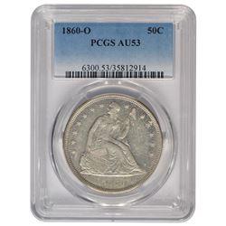 1860-O Seated Liberty Dollar PCGS AU53
