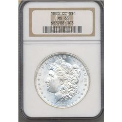 1883-CC $1 Morgan Silver Dollar Coin NGC MS65