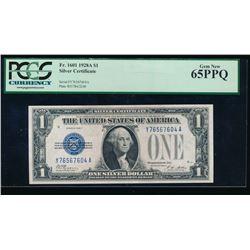 1928A $1 Silver Certificate PCGS 65PPQ