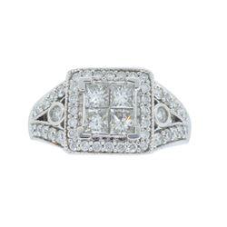 14KT White Gold 1.55ctw Diamond Ring