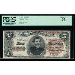 1890 $5 Treasury Note PCGS 63