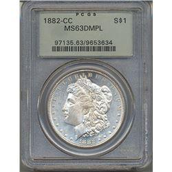 1882-CC $1 Morgan Silver Dollar PCGS MS63DMPL
