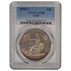 1878-S $1 Trade Dollar Coin PCGS AU58