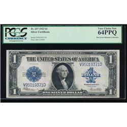 1923 $1 Silver Certificate PCGS 64PPQ
