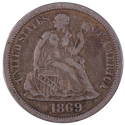 1869 Liberty Seated Dime