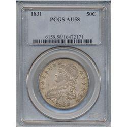 1831 Liberty Bust Half Dollar Coin PCGS AU58